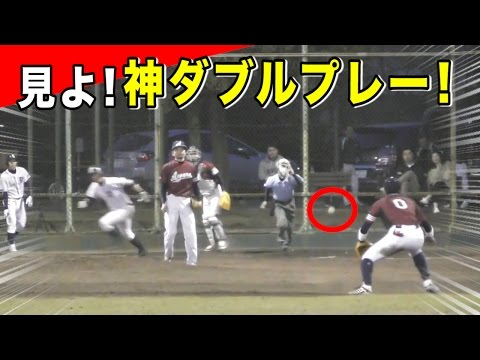 【全実況】神ダブルプレーVSサードの超送球!鉄壁の守備職人!