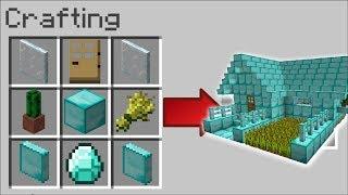 Minecraft GEM HOUSES MOD / SPAWN DIAMOND HOUSES AND SURVIVE INSIDE THEM !! Minecraft