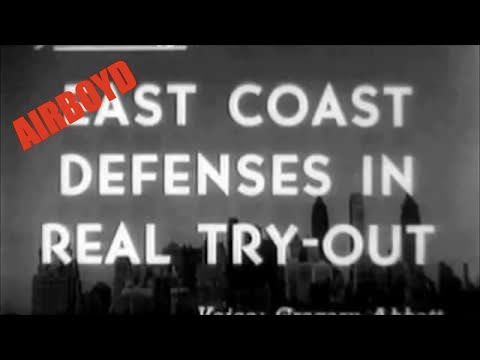 East Coast Defenses In Real Try-Out (1941)