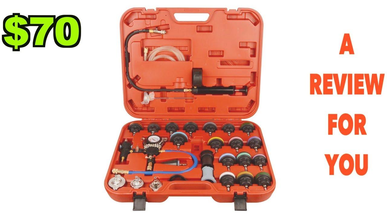 Vacuum Type Cooling System Tool Kit w//Carrying Case Goplus 28-Piece Universal Radiator Pressure Tester