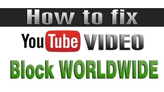How to remove youtube copyright on video blocked worlwide