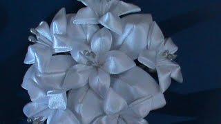 Белые лилии для  свадебного букета