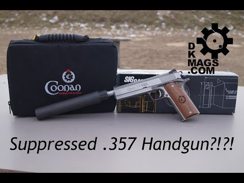 Suppressed  357 Mag Handgun?!?! The Coonan Classic With Suppressor!