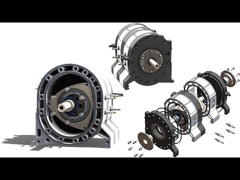 SolidWorks Tutorial #274 : Wankel engine (introduction to blocks, planetary gear)