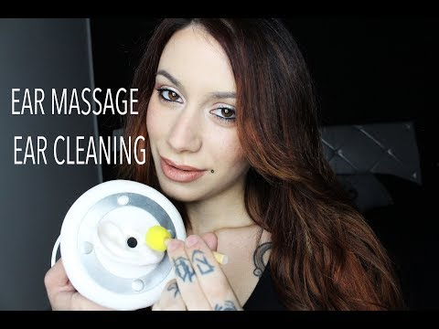 ASMR Ear Cleaning & Ear Massage With Oil Lotion (Cupping, Tapping, Touching, Rubbing)