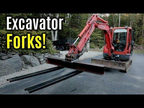 Kubota KX121-3 Excavator Custom Adjustable Pallet Forks