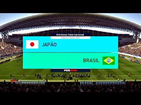 JAPÃO X BRASIL ( 1080p / 60FPS ) SAITAMA STADIUM 2002 - PES 18 !