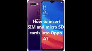 Download How To Insert Sim Card And Microsd Oppo A7 Ram 4gb Internal