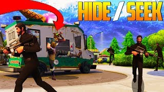 HIDE AND SEEK in TILTED TOWERS In Fortnite Battle Royale!