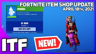 Fortnite Item Shop *NEW* SPROING! EMOTE + PET IS BACK! [April 18th, 2021] (Fortnite Battle Royale)