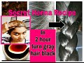 In 2 Hour turn gray/white hair brown-black | 100% natural |secret Henna recipe