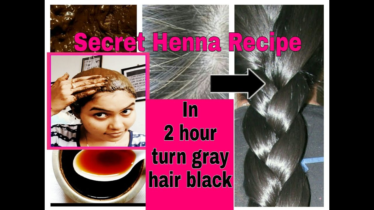 Mehndi For Gray Hair : In hour turn gray white hair brown black natural secret