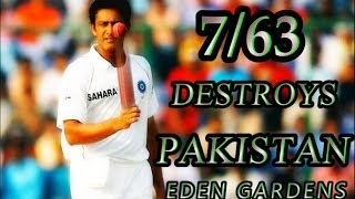 ANIL KUMBLE -THE DESTROYER! 7 WICKETS VS PAKISTAN