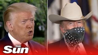 Donald Trump says 'I'm all for' wearing a coronavirus mask, 'I look like the Lone Ranger'