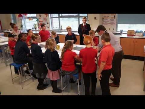 Year 5 Westfield Community School visit Abraham Guest Academy