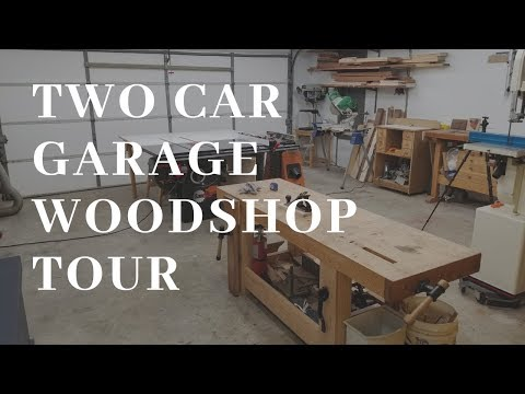 2 Car Garage Woodworking shop Tour