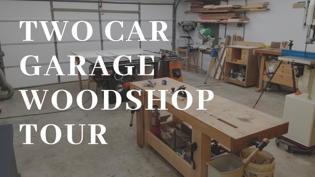 2 Car Garage Woodworking Shop Tour Youtube