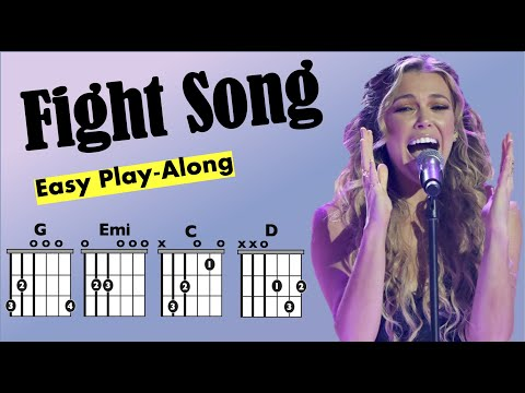 Fight Song (Rachel Platten) Guitar Chord and Lyrics Play-Along Chart