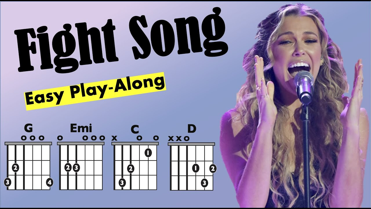 Fight Song Rachel Platten Guitar Chord And Lyrics Play Along Chart