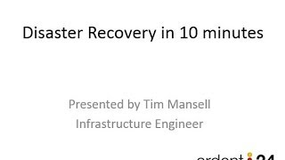 Hyper-V Replica - Disaster Recovery / Business Continuity