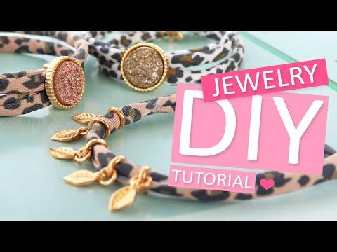 DIY Tutorial – Sieraden maken met stitched elastisch lint leopard - Zelf sieraden maken