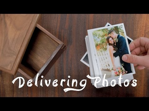 Delivering Photos To Clients // Prints + Wood Box!