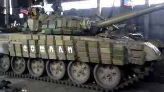 ''Отведенные'' танки рашистов в Макеевке