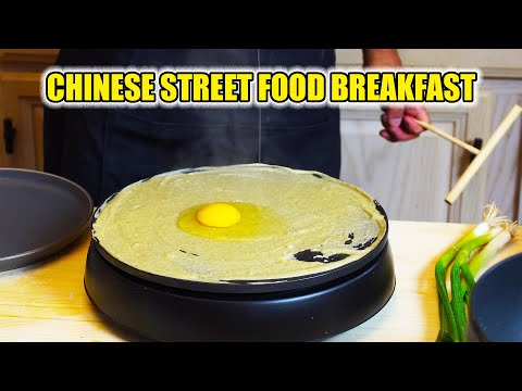 'CHINESE BREAKFAST BURRITO' Jian Bing Recipe | MOST POPULAR Chinese Street Food Made at home! 煎饼果子做法