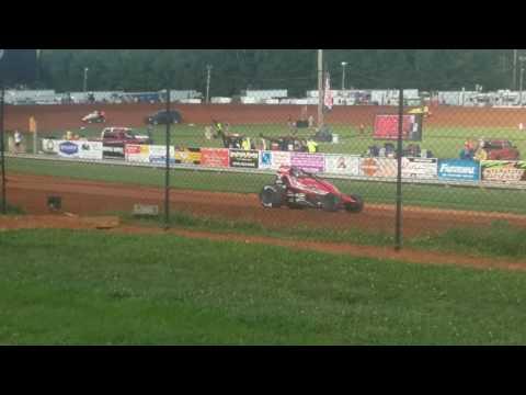 USAC Sprint Car Hot Laps Part 1/2 Bloomington Speedway