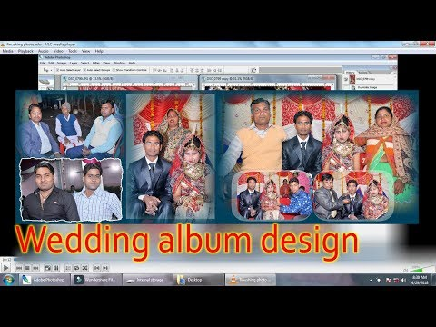 12x36 Wedding album design step by step..by Free main sikho