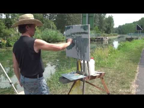 José SALVAGGIO plein air painting 18 reflections on water