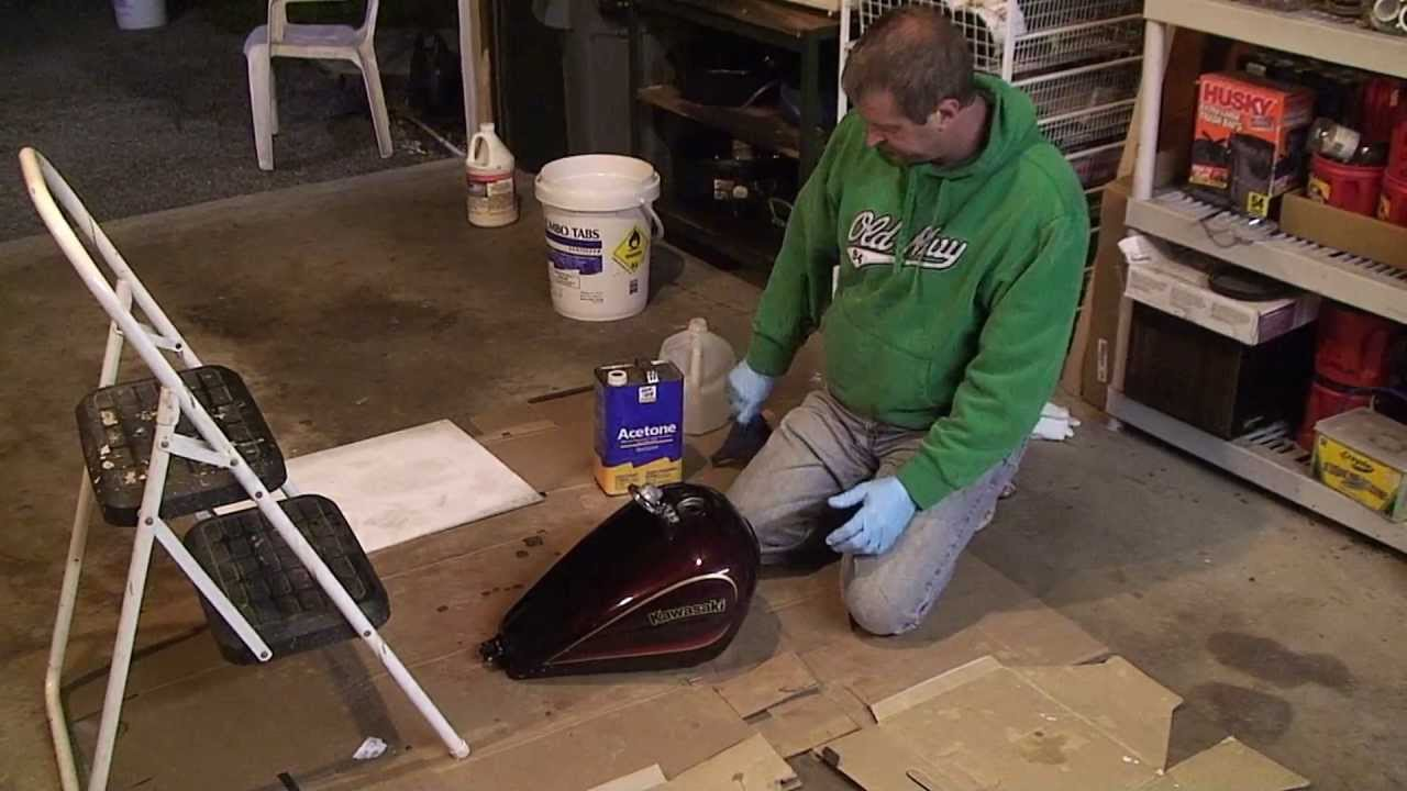 Clean And Seal Your Motorcycle Gas Tank Remove Rust Corrosion You