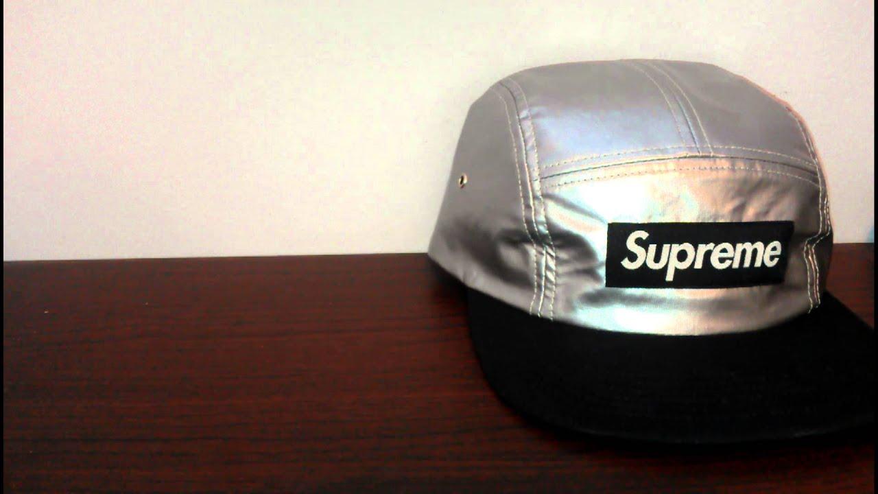428a8388924 Supreme Metallic Black Camp Cap Review Spring Summer 2013 Cotton Blend  Ventile Visor Black Box Logo
