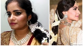 Sonam Kapoor  Wedding Mehendi/Sangeet Inspired Makeup Tutorial |മലയാളം | Look Beautiful With Niya