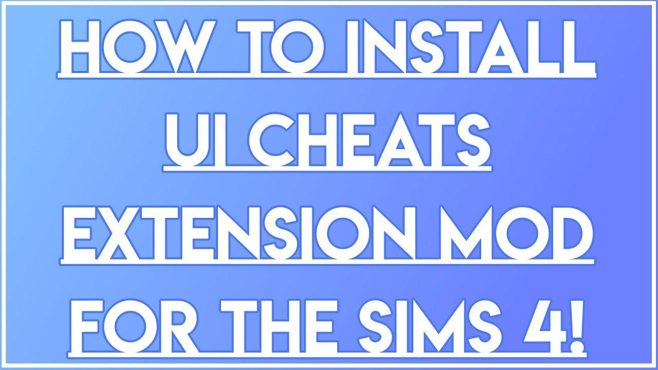 Sims 4 Cheats Ui