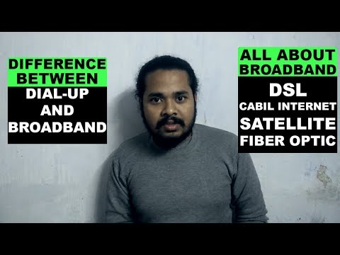 Difference Between DIAL-UP VS BROADBAND.All about DSL,CABLE INTERNET,SATELLITE,FIBER OPTIC