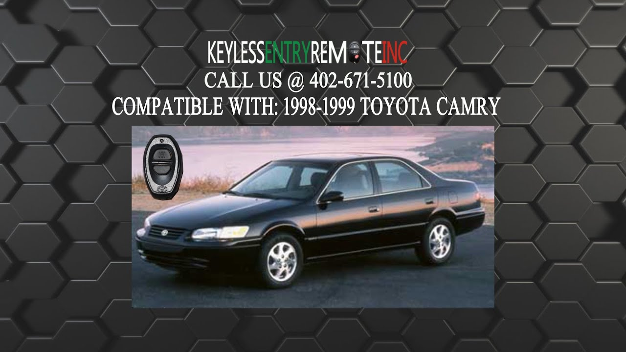 Key Fob Replacement >> How To Replace A Toyota Camry Key Fob Battery 1998 - 2002 ...