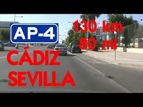 130 km - De Cádiz a Sevilla , Andalucía (AP-4) / 80 mi - From Cádiz to Seville. (AP-4 Motorway)