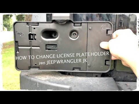 Jeep Wrangler License Plate Frame by Jeep