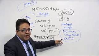 NEET MDS 2019 Paper Analysis and Answers for All MCQs : DBMCI MDS EXPERTS
