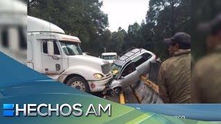 Aparatoso accidente se registró en la carretera México-Cuernavaca