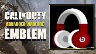 COD AW / Call of Duty Advanced Warfare : Beats Headphones Emblem Tutorial