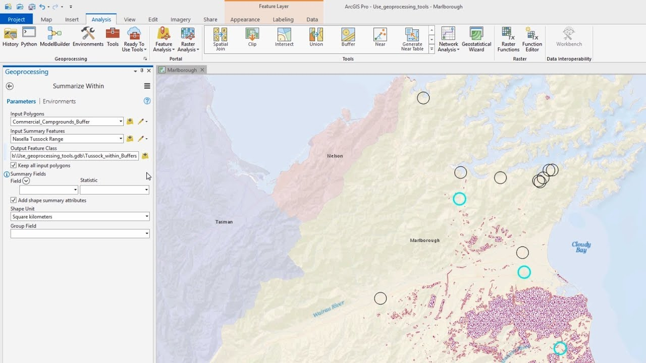 Use Geoprocessing Tools in ArcGIS Pro