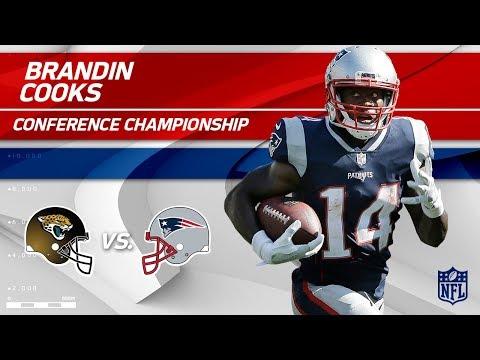 Brandin Cooks Highlights | Jaguars vs. Patriots | AFC Championship Player HLs