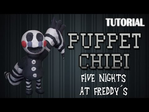 Tutorial Puppet Chibi en Plastilina / FNaF / How to make a Puppet Chibi with Clay