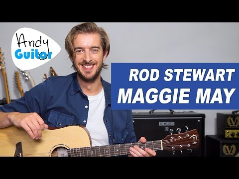 How to Play Maggie May by Rod Stewart on Acoustic Guitar -Easy Song Lessons