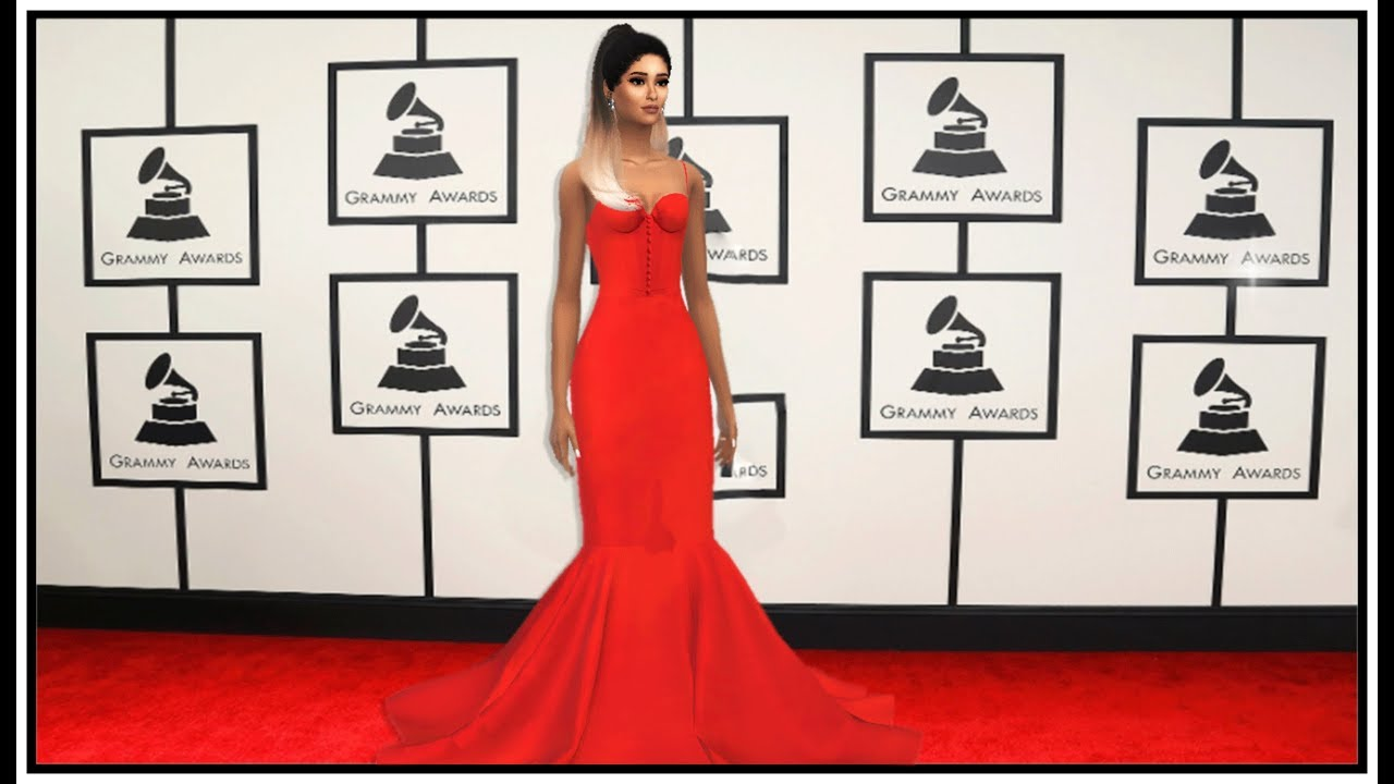 The Sims  Ariana Grande  Grammy Awards Red Carpet