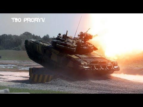 """Основной боевой танк России - Т-90 СМ, """"Прорыв"""". 5 метров под водой."""