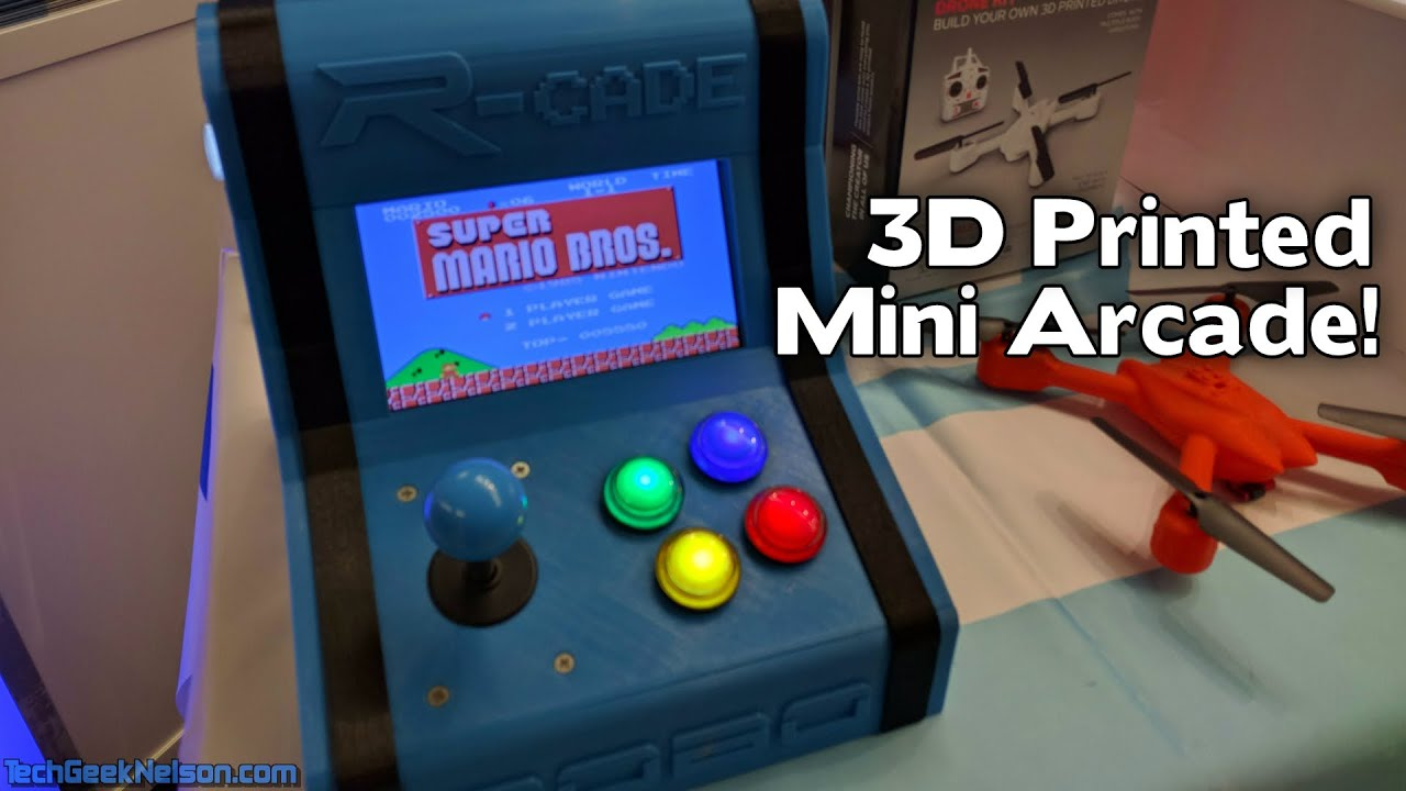 3D printed arcade from Robo 3D - CE Week 2016 - YouTube