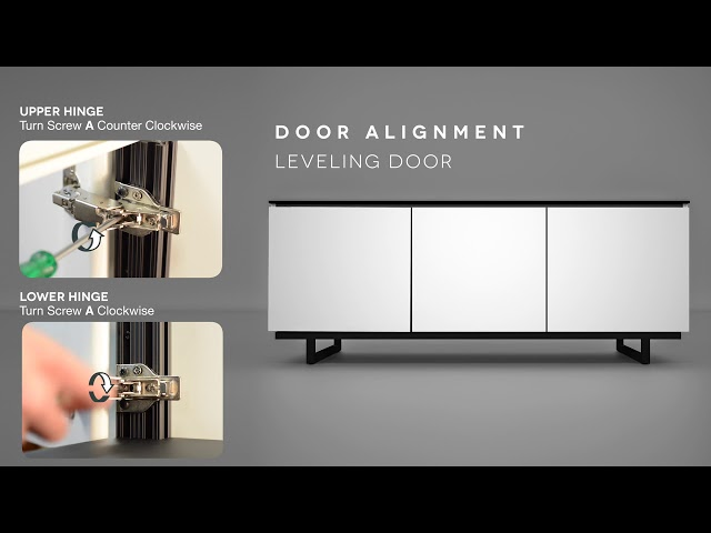 Salamander Designs Door Hinge Adjustment - Chameleon Cabinets